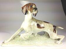 """VINTAGE & RARE LARGE Hutschenreuther Porcelain """"POINTER BIRD DOG""""  FRITZ DILLER"""