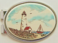 Money Clip Oval Barlow Photo Reproduction in Color Lighthouse Silver 539226c NEW