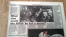 SECRET AFFAIR @ The Marquee 1979 concert review UK ARTICLE / clipping  Mods