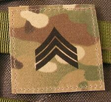 Galons US - SERGEANT - grade scratch MULTICAM rank insignia SNAKE PATCH army