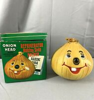 Vintage Onion Head Refrigerator Baking Soda Holder box included Kitchy Kitchen