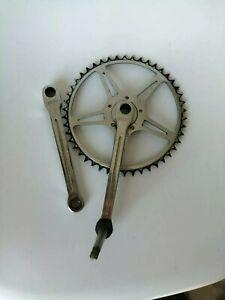 Ancien Pédalier Chromé NERVAR 46 Dents 1950 Vélo Vintage Bici Epoca