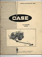 Original OE OEM 03/1964 Case Model E10 Mounted Mower Parts Catalog Number A809