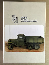 S.M.A SCALE MODEL ACCESSORIES SMAV110 - RUSSIAN GAZ AAA CARGO TRUCK - 1/35 RESIN
