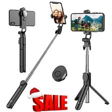 Extendable Selfie Stick Tripod with Wireless Remote Tripod Stand for iPhone 11 X