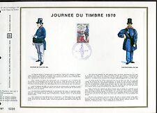 DOCUMENT CEF PREMIER JOUR  1970  TIMBRE N° 1632  JOURNEE DU TIMBRE FACTEUR 1830
