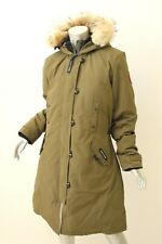 CANADA GOOSE Military Green Kensington Coyote Fur Trim Parka XL $950