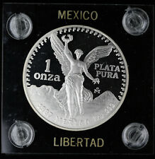 1987 Mexico 1 Onza Silver Proof Libertad in Capital Plastics Holder