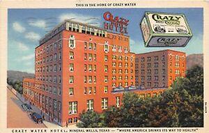 H71/ Advertising Postcard c1910 Mineral Wells Texas Crazy Water Crsytals 66