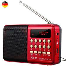 Kleiner digitaler FM Radio Lautsprecher USB Musikbox MP3 Player U-Disk Mit Akku