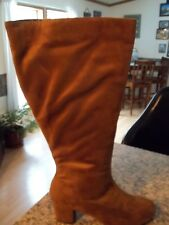 """NEW WOMENS """"COMFORTVIEW"""" WIDE CALF FABRIC BOOTS - SIZE: 10 M    COLOR: COGNAC"""