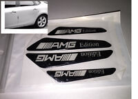 NEW 4PC black AMG door guard Car Side Door Edge Protection Guards Trims Stickers