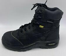 Reebok Sz 9.5 M Womens Work Boot Composite Toe Black Leather Waterproof MT75