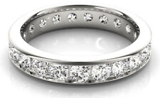 2.80 carat Diamond Eternity Ring Wedding Band, 14k gold size 4.5, F-G Vs/Si1