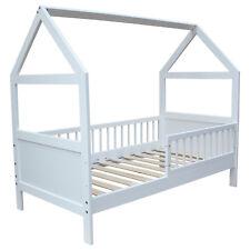 Kinderbett / Juniorbett Bett Haus 140x70cm massiv weiss viele Umbaumöglichkeiten