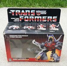 1984 Transformers G1 Dinobot Flamethrower Slag Original Box instruction Booklet