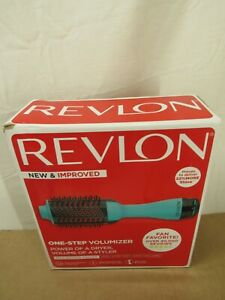 Revlon One Step Volumizer Hair Dryer Hot Air Brush Dry & Volume - Teal