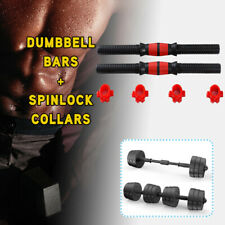 "HOT 2PC 40cm Dumbbell Bars+Spinlock Collars Weight Lifting Set1"" Standard Unisex"