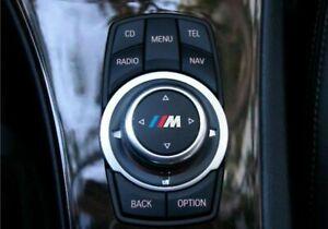 2x BMW M tec I-drive sticker decal emblem badge logo multimedia control sport