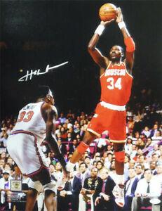 Hakeem Olajuwon Autographed/Signed Houston Rockets 16x20 Photo JSA 14502 PF