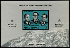 MiNr. 2939 (Block 86) Rumänien Sojus 11 postfrisch / MNH / **