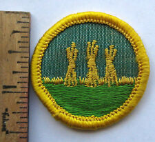 Vintage Girl Scout 1963-70 Cadette OUTDOOR SAFETY BADGE Farming Hay Stacks Patch