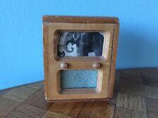 Fernseher Holz Puppenstube Puppehaus 1:12 dollhouse TV