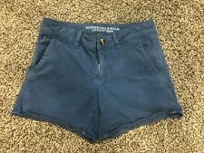"""American Eagle Shorts Sz 6 *midi* Stretch Blue """"Dusty Blue"""""""