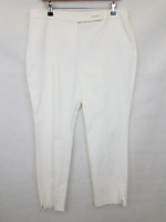 Dorothy Perkins Ladies cropped pegged trousers white cotton blend size 14 02