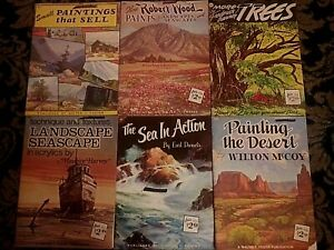 Lot of 6 Drawing & Painting Books Landscape~Seascapes~Desert~Trees Walter Foster