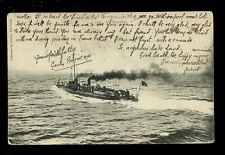 Navy France Shipping TORPILLEUR Torpedo Boat 1907 Faults PPC