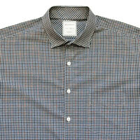 BILLY REID Mens XL Micro Check John T Long Sleeve Sport Shirt Standard Cut Italy