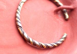 Solid Twisted Copper Bracelet, Cuff Bracelet