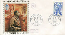 FRANCE FDC - 788B 1696 1 GENERAL DE GAULLE - LILLE 9 11 1971 - LUXE