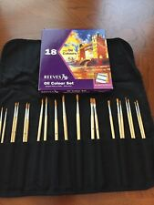 Reeves 18 Fine Oils Set - With Brushes - Paint Set - New/Sealed - 18x12ml (.4oz)