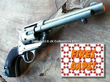 """Replica M1873 """"FRONTIER"""" PISTOL Peacemaker Prop Cap Gun 5.5"""" Gray + Black Grips"""