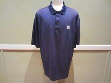 Monterey Club Men's Short Sleeve Navy Blue Golf Polo Shirt Size XXL