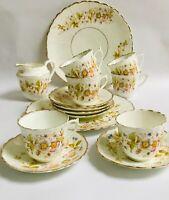 Victorian Teaset English vintage china tea cups saucers
