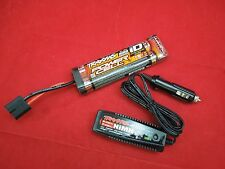 TRAXXAS SLASH 4X4  iD FLAT BATTERY nimh 8.4 v 7 cell 3000 mah 4 amp charger VXL