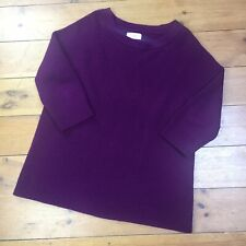 TOAST Purple 100% Merino Extrafine Wool Jumper Size M UK 12/14 Comfy Hygge