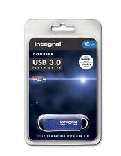 Integral Courier 16GB Hi Speed USB 3.0. 10X Faster than USB 2.0. INFD16GBCOU3.0