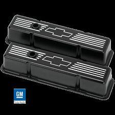 Billet Aluminum Small Block Chevy Bowtie Tall Valve Cover 350  305 327 400 BLACK