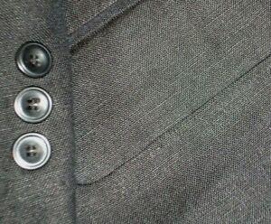 MOYGASHELL mens IRISH LINEN sport coat SOLID BLACK 3 BUTTONS 46R 46 e56 - NEW