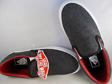 VANS Classic Slip-Ons Tweed Black/White Skateboarding Shoes Mens Sz 7 New In Box