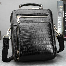Crocodile Skin Shoulder Bag Genuine Alligator Leather Handbag Mens Messenger Bag