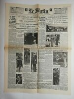 N802 La Une Du Journal Le Matin 8 juin 1936 chantilly mistress Ford