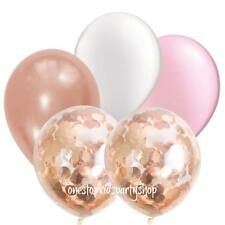 Rose Gold, White & Pink Confetti Balloon Bouquet-Party Decorations-Balloons