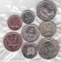 FALKLAND ISLANDS - 8 DIF UNC COINS FULL SET: 1 PENNY - 2 POUNDS BIMETAL ANIMALS