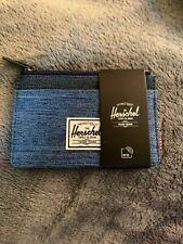 NEW NWT Blue Herschel Supply Co. Oscar Zip Cardholder Wallet Zip Top