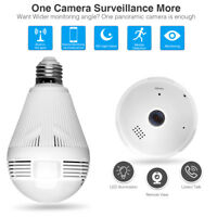 360° Panoramic 960P Wifi Hidden IP Camera Light Bulb Night Vision Security Cam